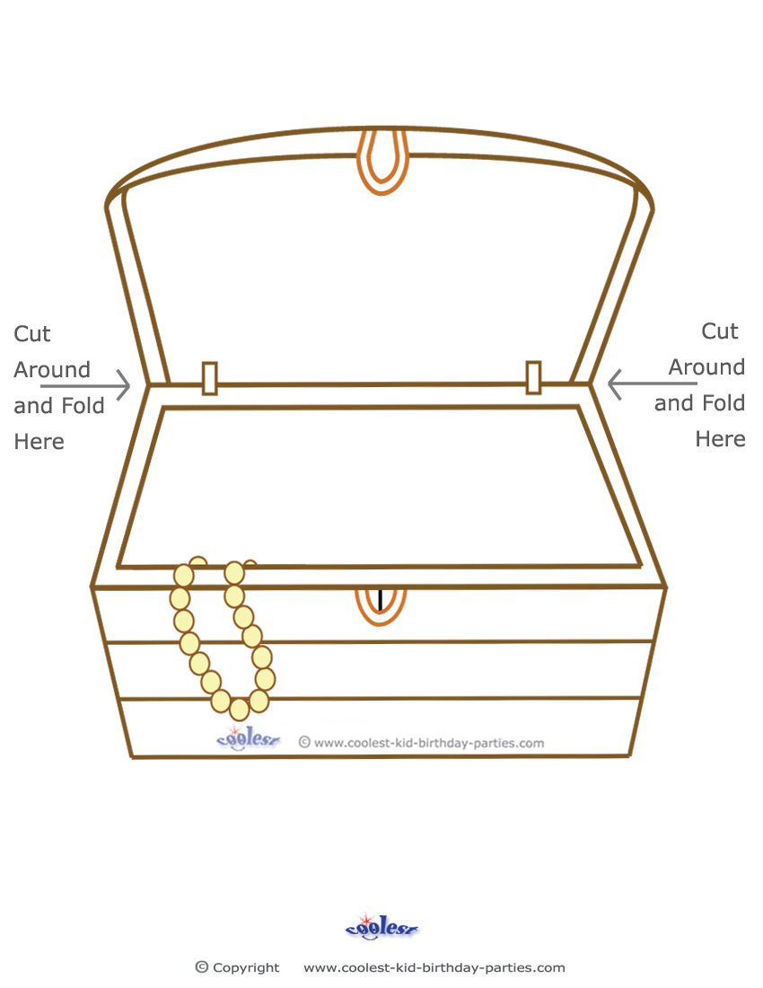 mcbleausardinfo - Open Treasure Chest Coloring Page