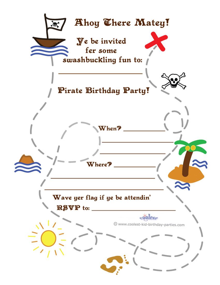 photograph regarding Printable Treasure Maps named Printable Treasure Map Invitation
