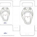 Printable T-Rex Dino Favorbag