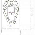 Large Printable T-Rex Dino Favorbag
