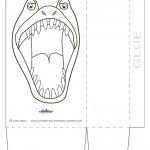 Large Printable T-Rex Dino Favorbag