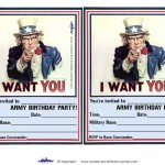 Printable Uncle Sam Invitations