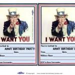 Printable Uncle Sam Invitations