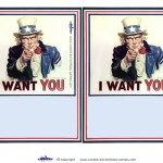 Blank Printable Uncle Sam Invitations