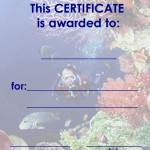 Printable Under The Sea Certificate