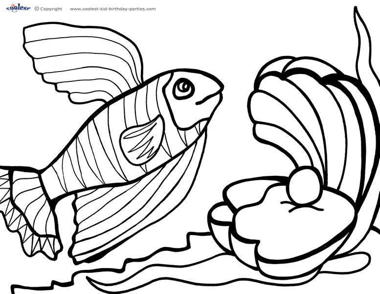 Printable Under The Sea Coloring Page 3