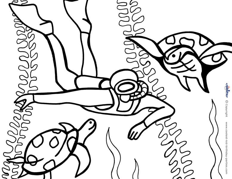 Printable Under The Sea Coloring Page 6