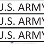 Printable US Army Signs