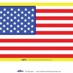 Large Printable USA Flag Decoration