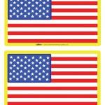 Medium Printable USA Flag Decorations
