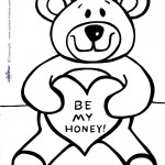 Printable Loveable Teddy Bear Coloring Page