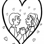 Printable Valentine's Day Coloring Page 1