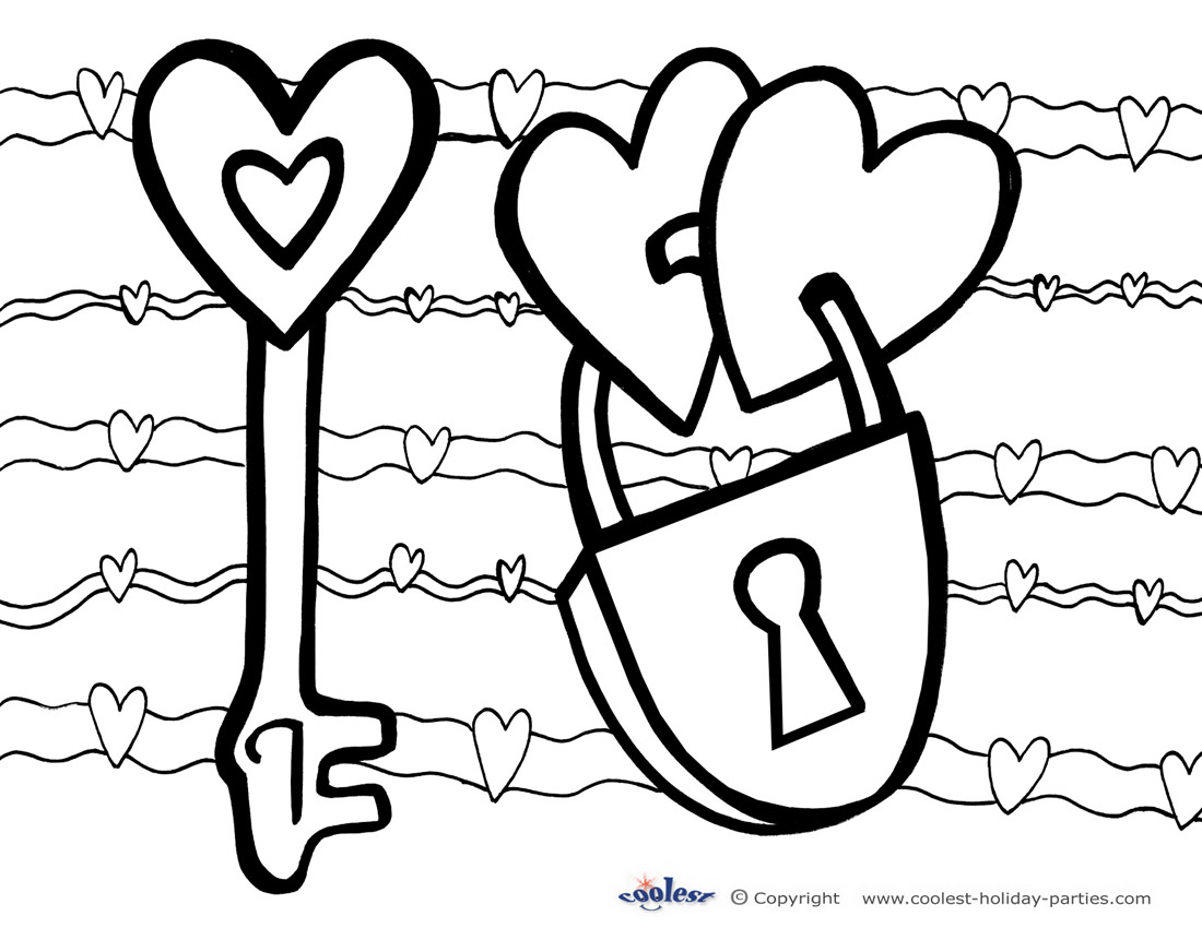 beautiful free valentines coloring pages - photo#29