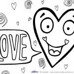 Printable Valentine's Day Coloring Page 6