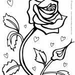 Printable Red Rose Coloring Page