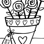 Printable Valentine's Day Coloring Page 9