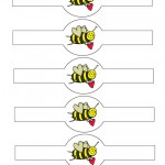Printable Bee-Mine Valentine's Day Napkin Holders