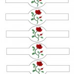 Printable Red Rose Napkin Holders