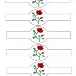 Printable Red Rose Napkin Holders