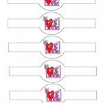 Printable Love Heart Valentine's Day Napkin Holders