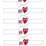 Printable Heart Love Valentine's Day Napkin Holders