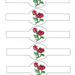 Printable Red Roses Napkin Holders