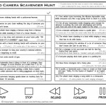 Printable Video Scavenger Hunt List