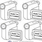 Printable Video Scavenger Hunt Thank You Cards