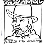 Printable Wild West Coloring Page 1