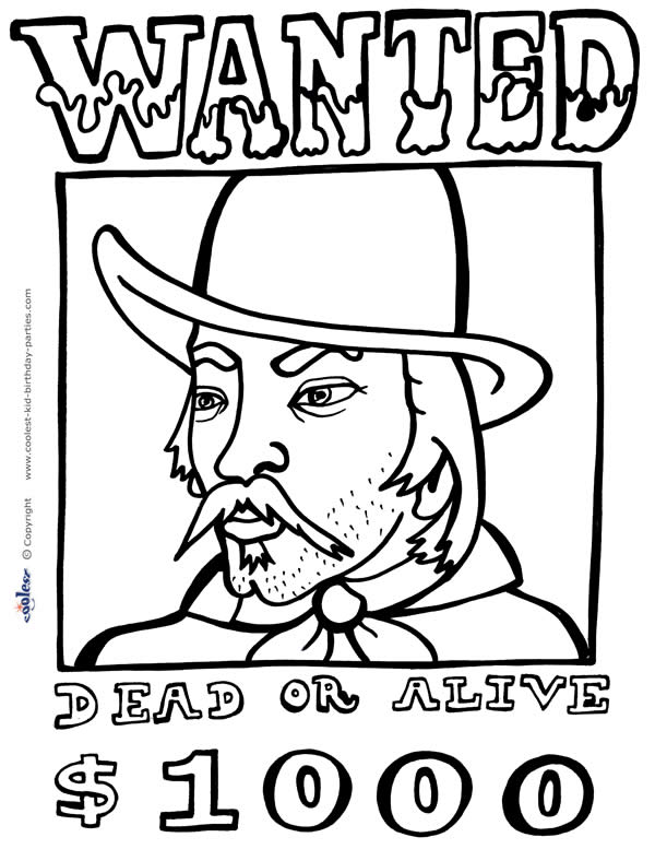 wildwest coloring pages - photo#21