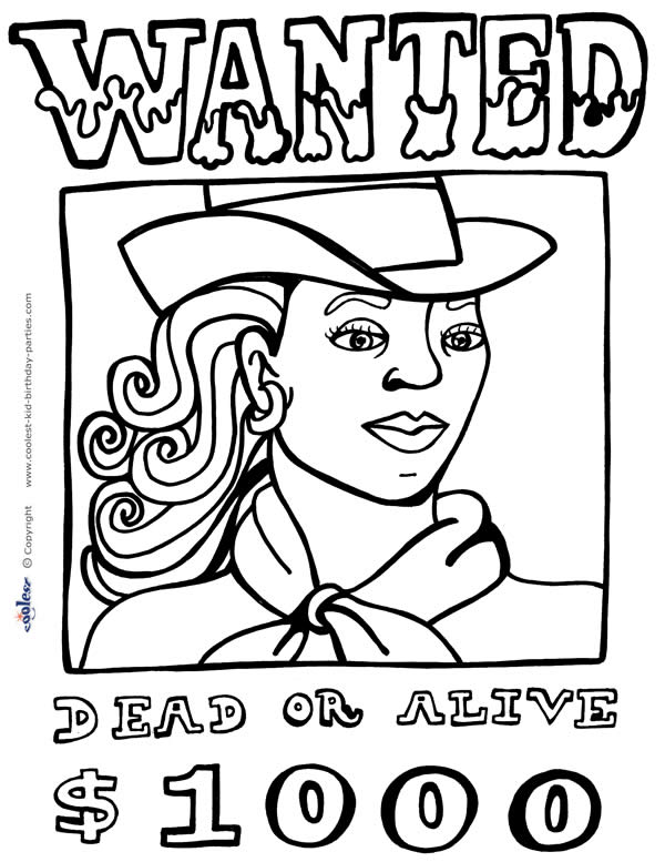 wildwest coloring pages - photo#27