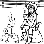 Printable Wild West Coloring Page 5