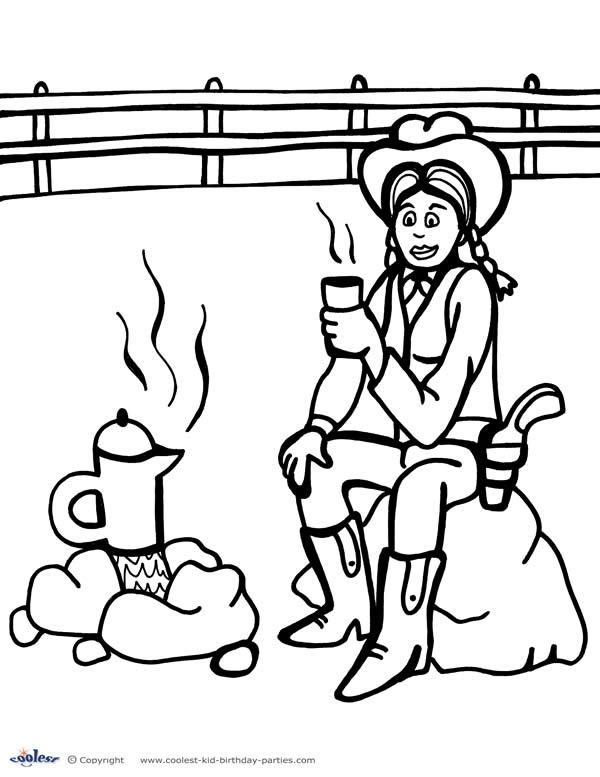 wildwest coloring pages - photo#8