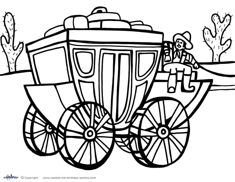 wildwest coloring pages - photo#16