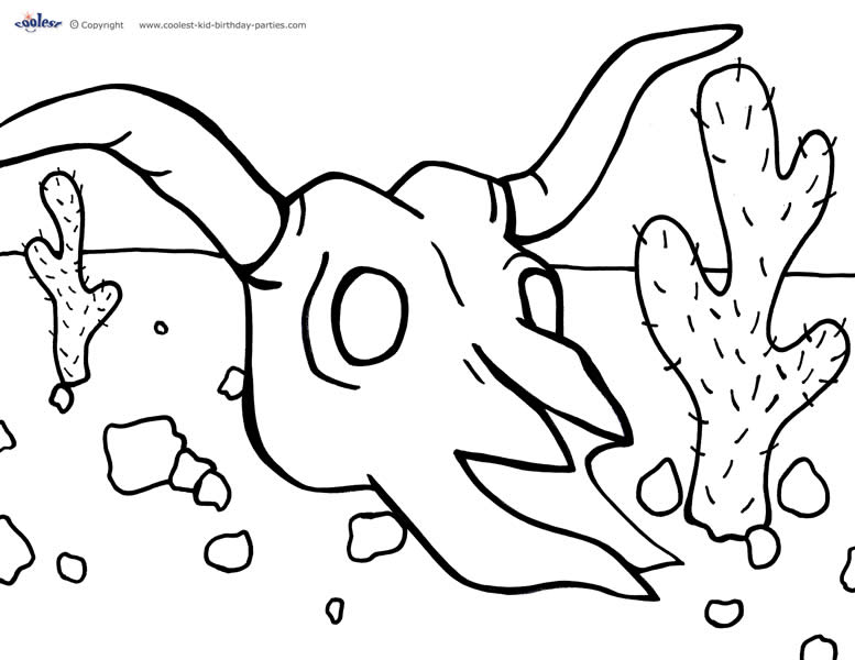 wildwest coloring pages - photo#17