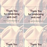 Printable Wild West Thank You Cards