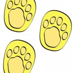 Colored Printable Winnie The Pooh Footprints