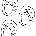 B&W Printable Winnie The Pooh Footprints