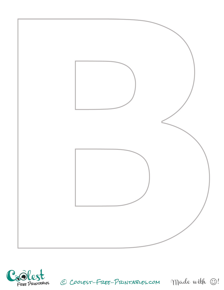 "The Letter ""B"" Printable Stencil (Uppercase)"