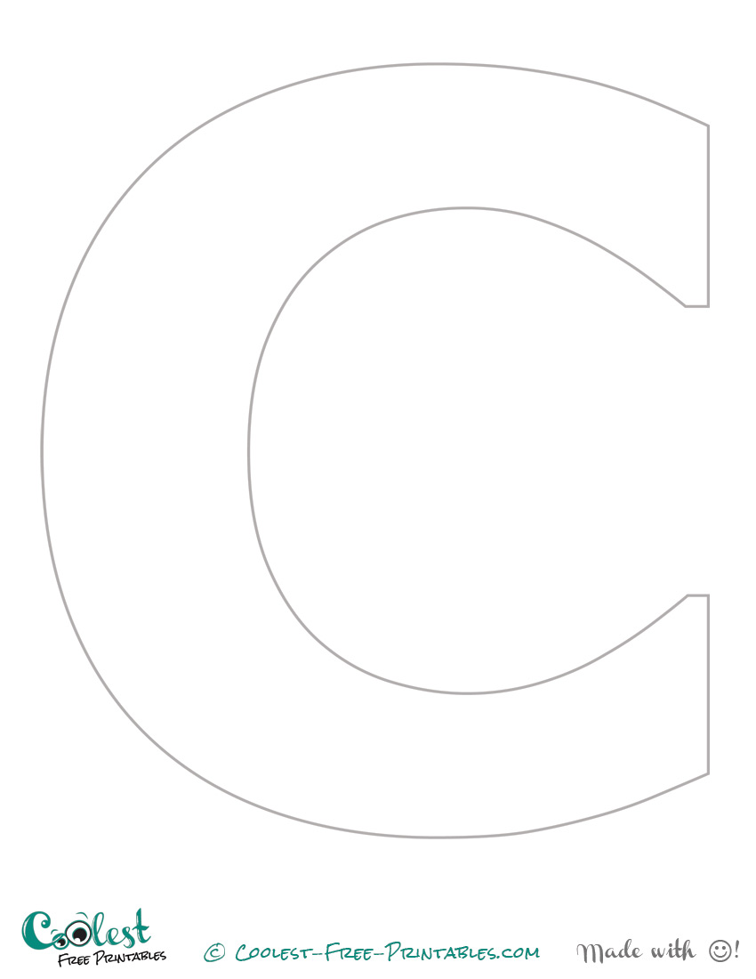 """The Letter """"C"""" Printable Stencil (Uppercase)"""