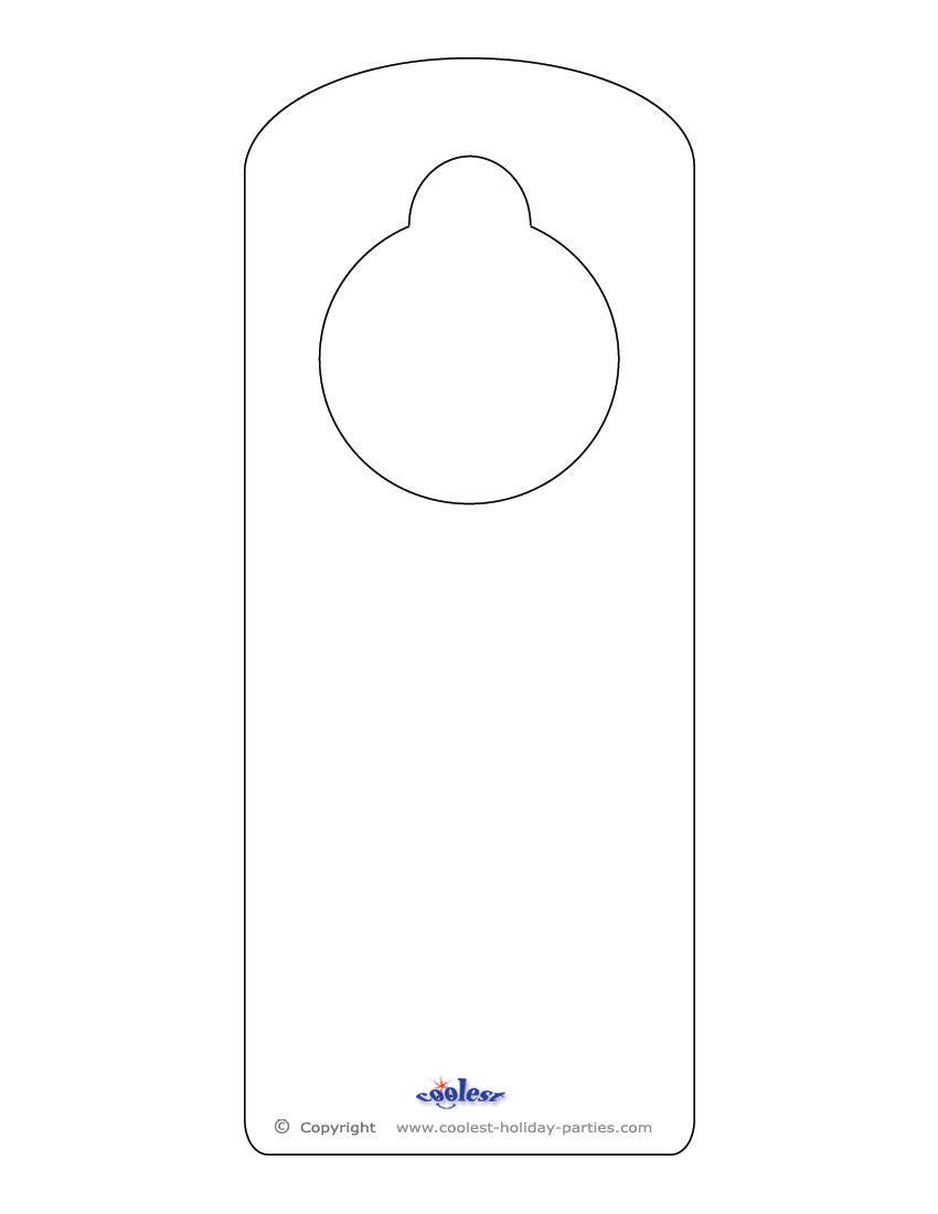 Printable door knob hanger template nicole blog