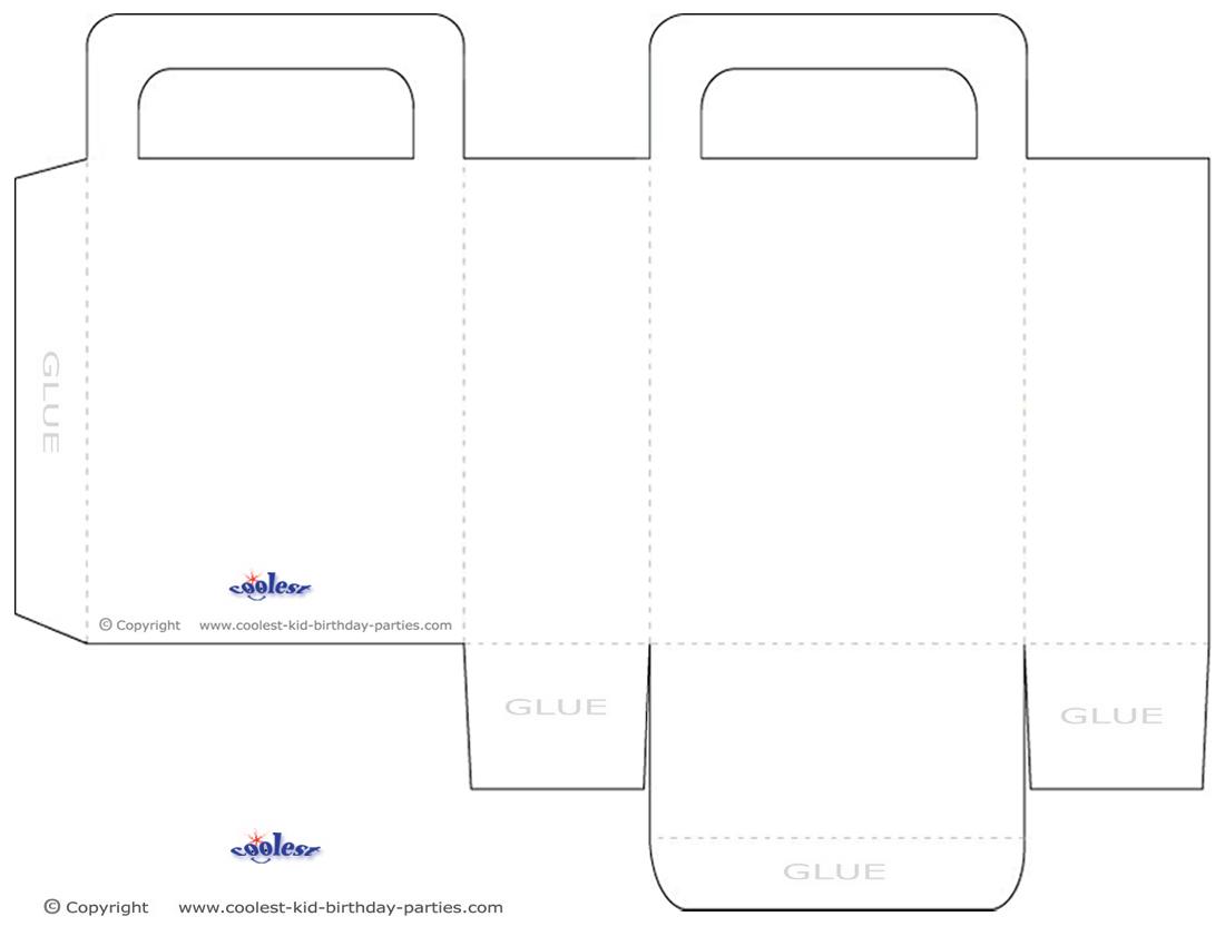 medium blank printable favor bag template. Black Bedroom Furniture Sets. Home Design Ideas