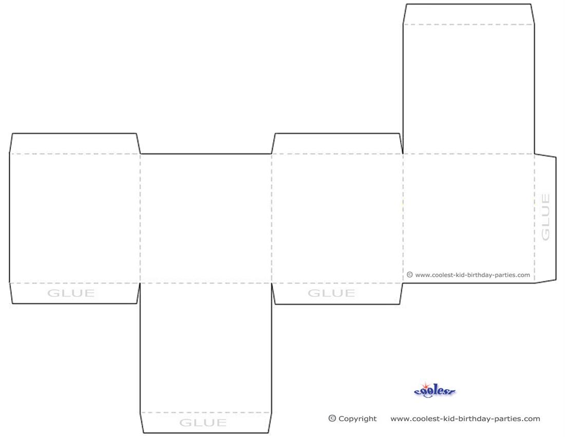 animal box template printable