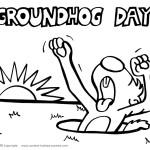 Printable Groundhog Coloring Page 1