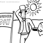 Printable Groundhog Coloring Page 2