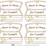 Printable Treasure Chest Thank You Cards