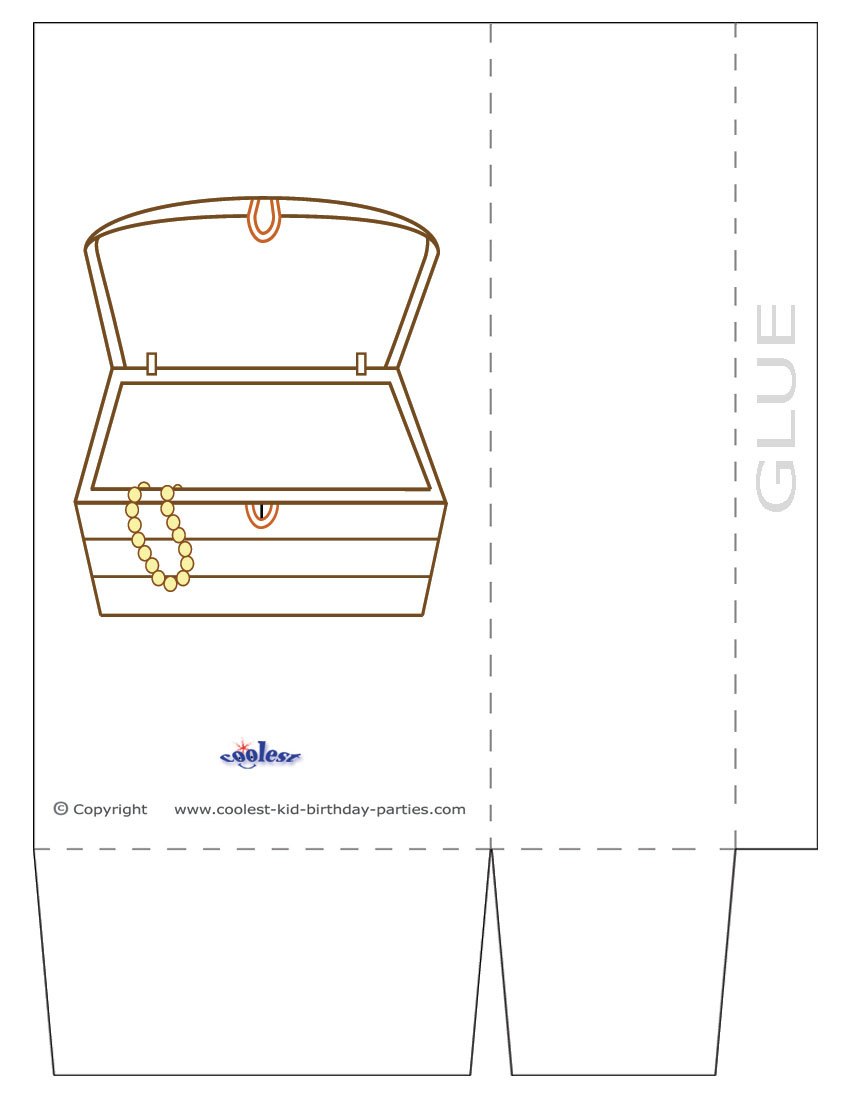 picture regarding Printable Treasure Chests referred to as Heavy Printable Treasure Upper body Favorbag