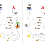 Printable Treasure Map Thank You Cards