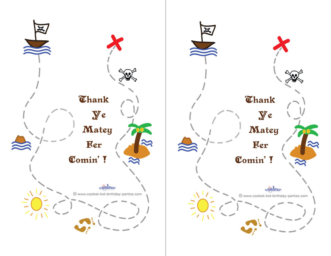 - Printable Treasure Map Thank You Cards - Coolest Free Printables