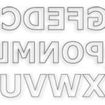 Backwards English Letters Stencils